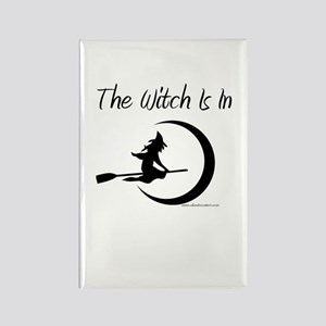 The Witch Is In Rectangle Magnet