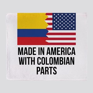 Made In America With Colombian Parts Throw Blanket