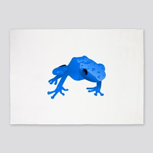Endangered Blue Poison Dart Frog 5'x7'Area Rug