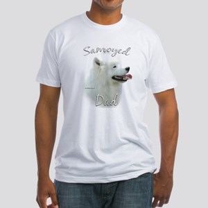Samoyed Dad2 Fitted T-Shirt
