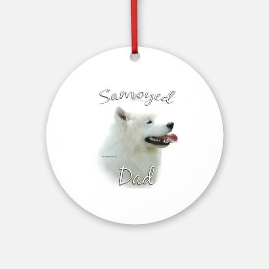 Samoyed Dad2 Ornament (Round)