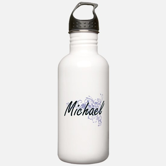 Michael surname artist Water Bottle