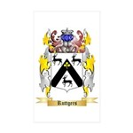 Ruttgers Sticker (Rectangle 50 pk)
