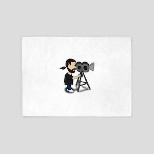 Comic Characters Filmmaker 5'x7'Area Rug