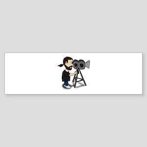 Comic Characters Filmmaker Bumper Sticker