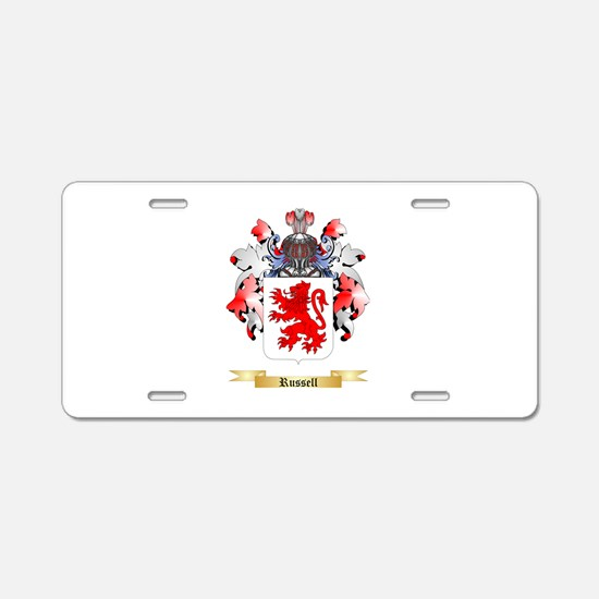Russell Aluminum License Plate