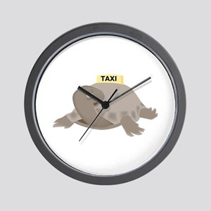 Turtle Taxi Wall Clock