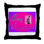 Sexy Receptionist Throw Pillow