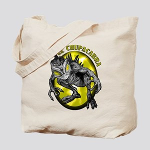 Chupacabra with Background 3 Tote Bag