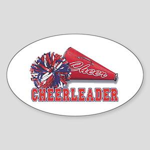 Cheerleader Cone Oval Sticker
