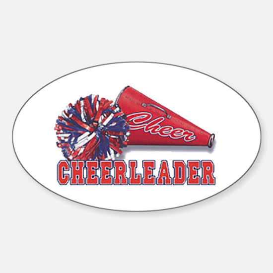 Cheerleader Cone Oval Decal