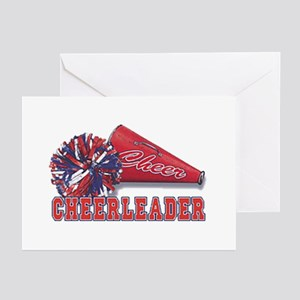 Cheerleader Cone Greeting Cards (Pk of 20)