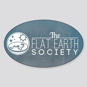 Flat Earth Society Logo Sticker