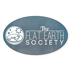 Flat Earth Society Logo Decal