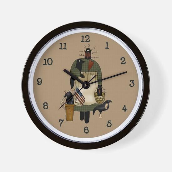 Primitive Art Sadie Wall Clock