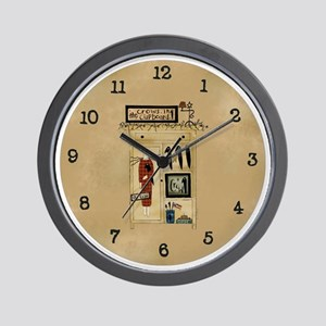 Primart Crows in the Cupboard Wall Clock