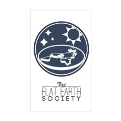 The Flat Earth Society Logo With Text Decal
