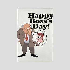 Office Ass Kisser Boss Day Rectangle Magnet