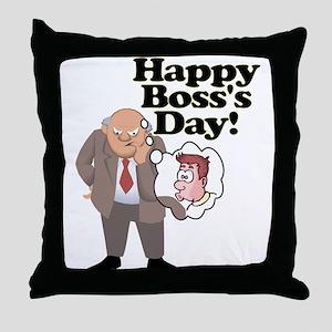 Office Ass Kisser Boss Day Throw Pillow