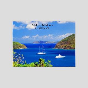 Sail Boats St. John 5'x7'Area Rug