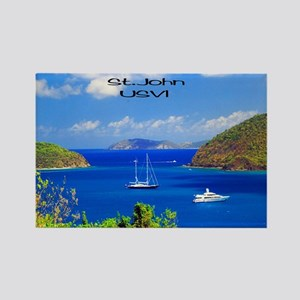 Sail Boats St. John Rectangle Magnet Magnets
