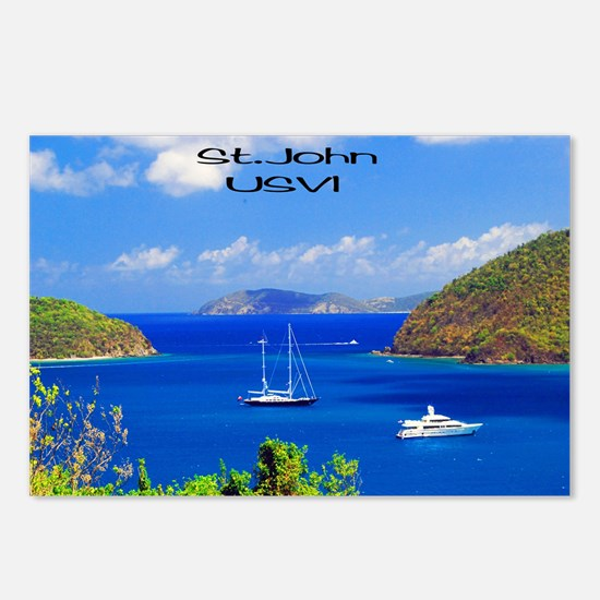 Sail Boats St. John Postcards (Package of 8)