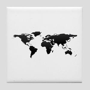 World map Tile Coaster