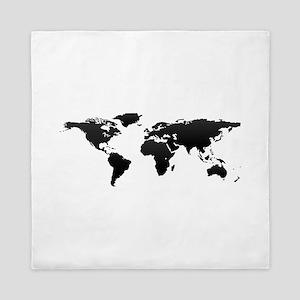 World map queen full duvet covers cafepress world map queen duvet gumiabroncs Images