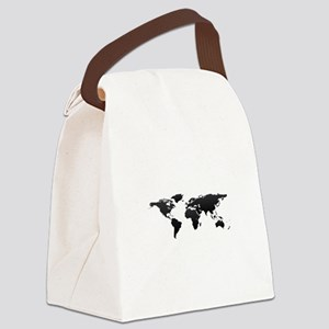 World map Canvas Lunch Bag