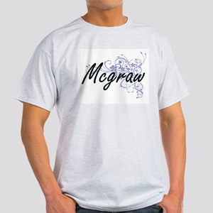 Mcgraw surname artistic design with Flower T-Shirt