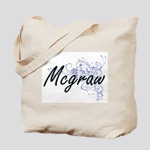 Mcgraw surname artistic design with Flowe Tote Bag