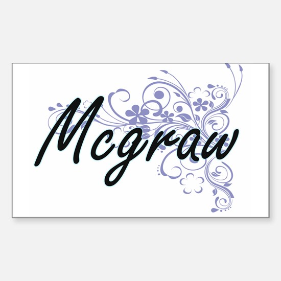 Mcgraw surname artistic design with Flower Decal
