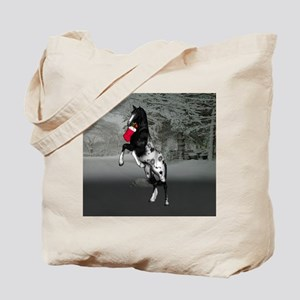 Black Appaloosa christmas Tote Bag