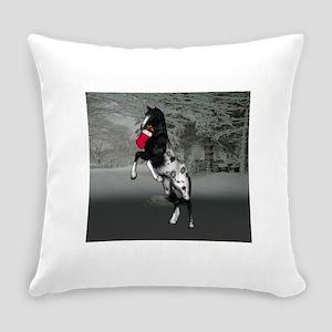 Black Appaloosa christmas Everyday Pillow