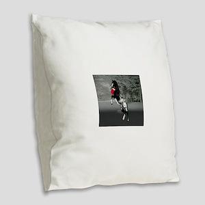 Black Appaloosa christmas Burlap Throw Pillow