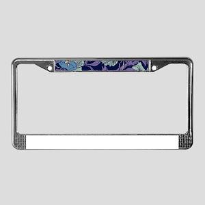 William Morris Textile License Plate Frame