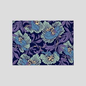 William Morris Textile 5'x7'Area Rug