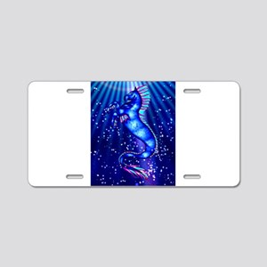 hippocampus Aluminum License Plate