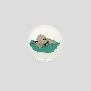Mole in Ground Mini Button