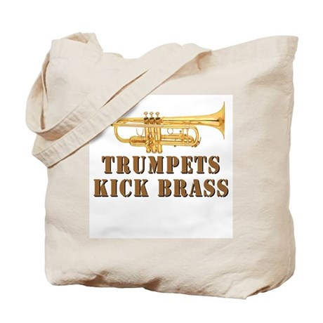 Trumpets Kick Brass Tote Bag