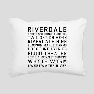 Riverdale Places Rectangular Canvas Pillow