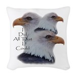 Eagle All That I Could Woven Throw Pillow