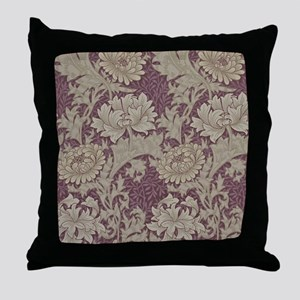 Chrysanthemum William Morris Throw Pillow