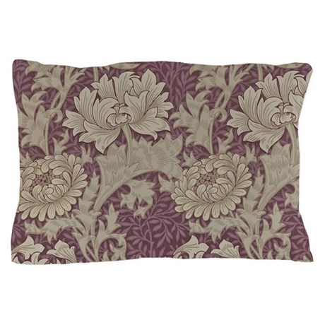 Chrysanthemum william morris pillow case by funimages101 for White craft pillow cases