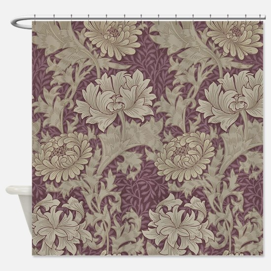 Chrysanthemum William Morris Shower Curtain