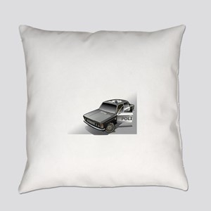 Police Car Fiat Everyday Pillow