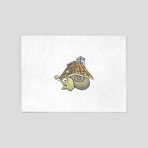 Snail House on backside 5'x7'Area Rug