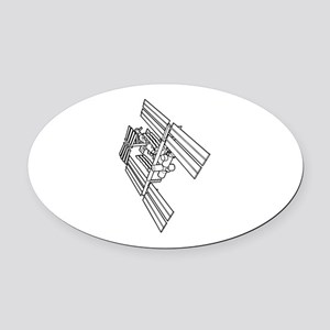 International space station Oval Car Magnet