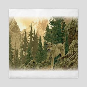 Wolf Mountain Queen Duvet