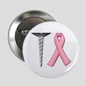 "Screw Breast Cancer! 2.25"" Button"